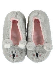 Girls' ballet pump slippers DFBALKOAL / 18WK35W5D07940