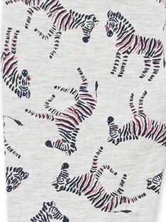 Jeggings grigio melange e blu con stampa zebre in tessuto felpato spazzolato LAJOPANT3 / 21S90132D2B006