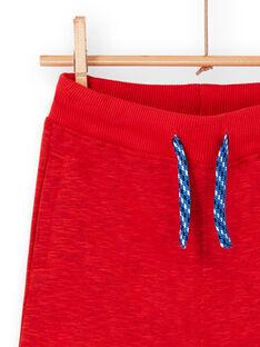 Pantaloni sportivi rosso melange bambino LOVIJOG / 21S902U1JGBF520
