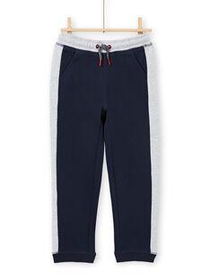 Pantaloni sportivi navy e grigio melange bambino MOJOJOB1 / 21W90214JGB705