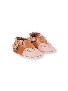 Babbucce arancione e rosa neonata KNFBICHE / 20XK3714D3S400