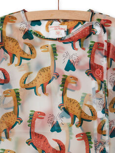 Grembiule da scuola trasparente con stampa dinosauro bambino MYOCLATAB1 / 21WI02G1TAB961