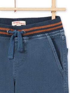 Pantaloni blu con tasche bambino MOJOPAMAT3 / 21W90221PANC202