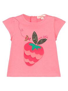 T-shirt con stampa neonata FIYETI / 19SG09M1TMC309