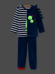 Completo pigiama fosforescente con motivo coccodrillo bambino MEGOPYJVER / 21WH1231PYJC225