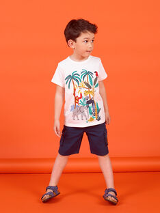 T-shirt maniche corte ecrù bambino LOVITI4 / 21S902U4TMC001