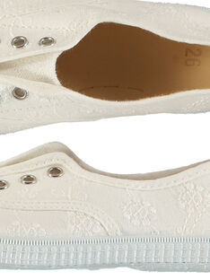 Scarpe da tennis tela ricamate bambina FFTENBROD3 / 19SK35B7D16000