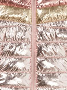 Piumino con cappuccio tricolore metallizzato LAROSDOUNE / 21S901R2D3EK007