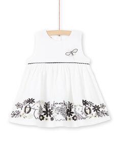 Abito bianco in velluto neonata LIPOEROB1 / 21SG09Y2ROB001