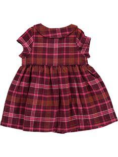 Baby girls' flannel dress DIPINROB1 / 18WG09P1ROB099