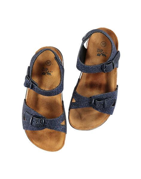 Sandali da città pelle iridescente bambina FFNUNIGHT / 19SK35D7D0E070