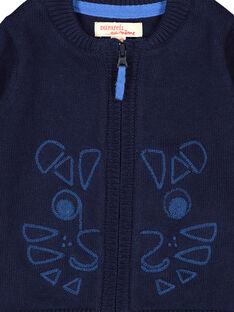 Cardigan con cerniera navy neonato FUJOGIL2 / 19SG1032GIL713