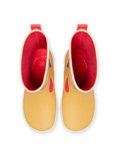 Stivali da pioggia arancioni motivi cuori fantasia bambina MAPLUICOEUR / 21XK3511D0C400