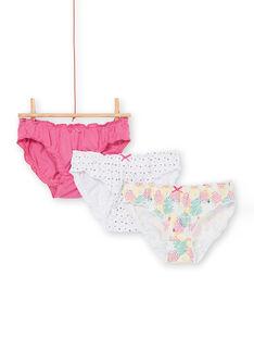 Set 3 slip rosa, giallo ed ecrù bambina LEFALOTSTA / 21SH1125D5L304