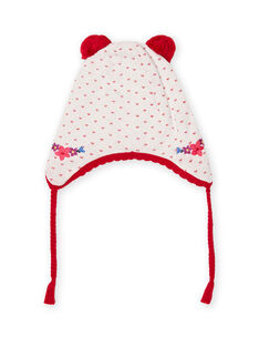 Berretto in maglia jacquard con pompon neonata MYIMIXBON / 21WI0951BON001