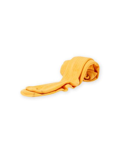 Collant tinta unita a costine senape bambina MYAJOCOL1 / 21WI0116COLB106