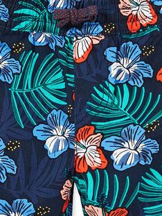 Bermuda navy con stampa a fiori bambino LOBONBER3 / 21S902W2BER705