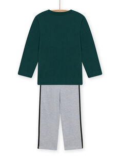Set pigiama felpato verde con motivo auto bambino MEGOPYJCAR / 21WH1299PYJ060