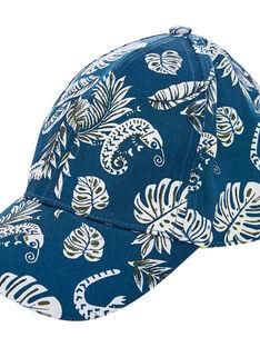 Cappellino bambino navy e bianco e interno giallo JYOCLOCAP / 20SI0211CHA715