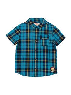 Camicia a quadri maniche corte bambino FOTUCHEM / 19S902F1CHM210