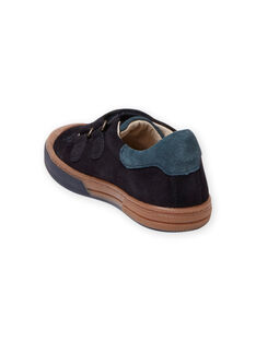 Sneakers scamosciate navy e cammello bambino MOBASART / 21XK3651D3F070