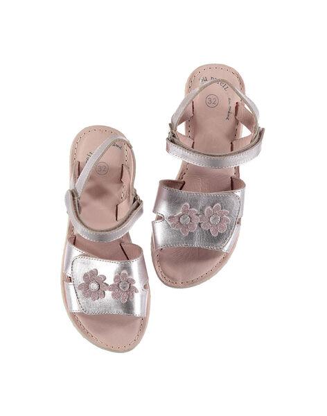 Sandali da città in pelle metallizzata bambina FFSANDSAM / 19SK35C3D0E030