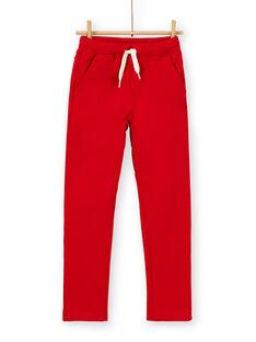 Pantaloni rossi in cotone bambino LOJOPAN3 / 21S90232PAN050