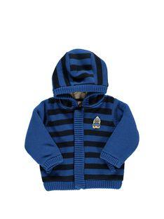 Baby boys' fur lined hooded jacket DUBLEVES / 18WG1062VES099