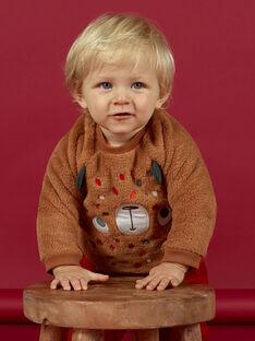 Felpa marrone con motivo orsetto neonato MUFUNSWE / 21WG10M1SWEI820