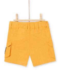 Bermuda giallo senape neonato LUTERBER3 / 21SG10V3BERB106
