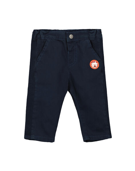 Pantaloni navy neonato FUBAPAN3 / 19SG1063PAN717