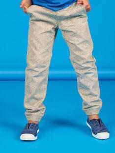 Pantaloni grigi con stampa animali selvaggi in cotone LOBLEPAN1 / 21S902J1PAN811