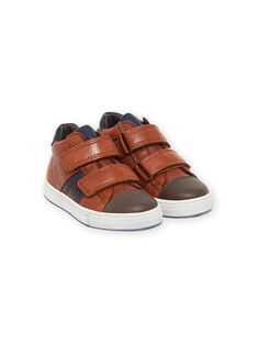 Sneakers cammello in pelle bambino MOBASNEWTAN / 21XK3674D3F804
