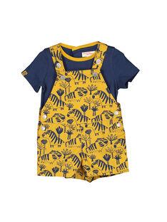 Completo salopette e t-shirt neonato FUBAENS / 19SG1061ENS107