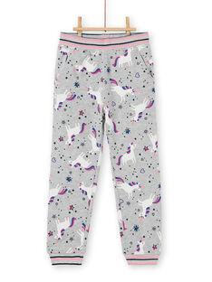 Pantaloni sportivi grigio melange con stampa unicorno LAJOBAJOG1 / 21S90141D2A943