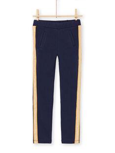 Pantaloni blu notte a righe bambina MAJOMIL1 / 21W90117PANC205