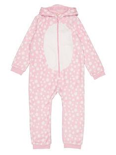 Tutina sacco nanna cerbiatto rosa con cappuccio in soft boa bambina GEFASURBI / 19WH11N2D4FD301
