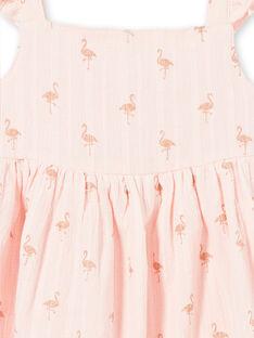 Abito rosa con stampa fenicotteri rosa glitterati LATEROB2 / 21S901V4ROBD322