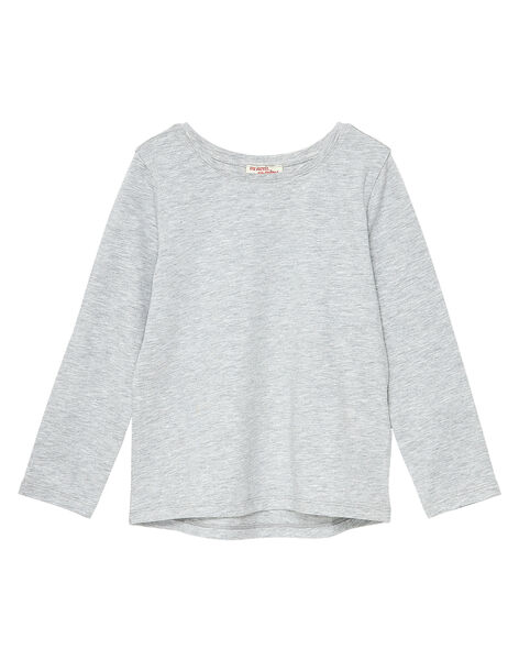 T-Shirt Maniche Lunghe Grigio Melange JAESTEE3 / 20S90164D32943