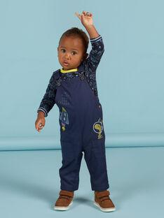 Salopette blu scuro con motivo spazio neonato MUPLASAL / 21WG10O1SALC243