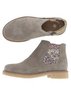Girls' leather boots DFBOOTGLIT / 18WK35TGD0D803