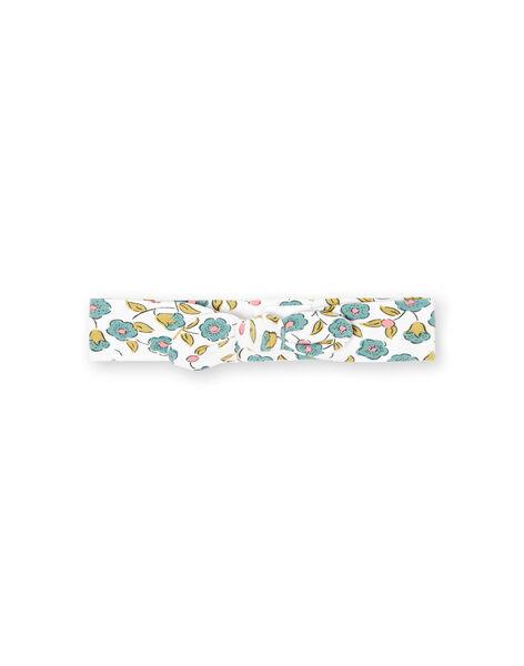 Fascia ecrù con stampa a fiori neonata MYIKABAN / 21WI09I1BAN001