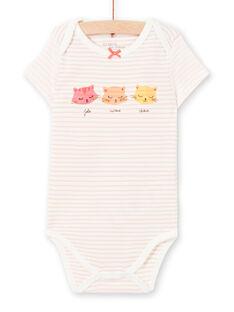Body rosa e bianco a righe LEFIBODCHA / 21SH1322BDL001