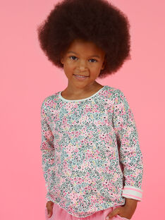 T-shirt a maniche lunghe double face bambina MAKATEE1 / 21W901I4TML001