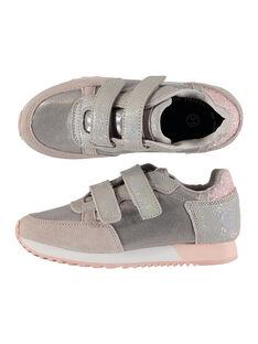 Sneakers da città bimateriale bambina FFBASGI / 19SK3531D3F954