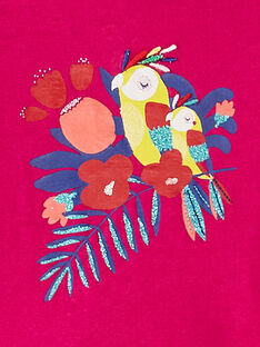 T-shirt maniche corte fucsia neonata JIMARTI / 20SG09P1TMC310