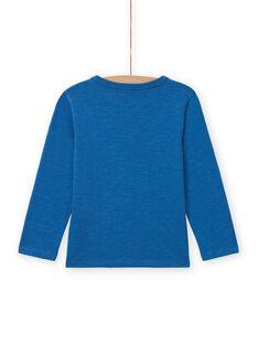 T-shirt blu con motivo drago bambino MOPLATEE2 / 21W902O1TML221