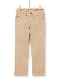 Jeans beige bambino MOCOPAN / 21W902L1PAN811