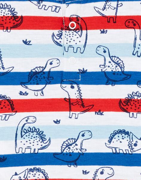 T-shirt a righe a maniche corte neonato LUCANTI / 21SG10M1TMC000