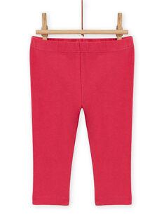 Completo rosso abito stampa cuori e leggings a righe neonata MIFUNENS / 21WG09M1ENS511